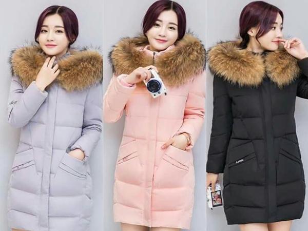 Áo phao nữ Quảng Châu dáng dài đẹp, phong cách, giá rẻ