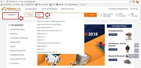 Cách mua hàng trên Alibaba